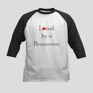 Loved by a Beauceron Kids Baseball Jersey