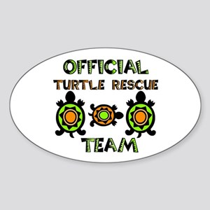 Turtle Rescue Oval Sticker