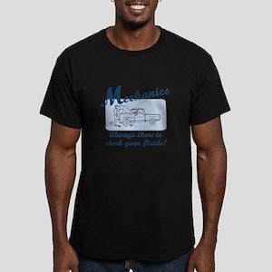 Funny Mechanics Men's Fitted T-Shirt (dark)