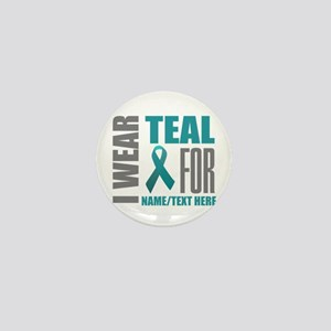 Teal Ribbon Awareness Customized Mini Button