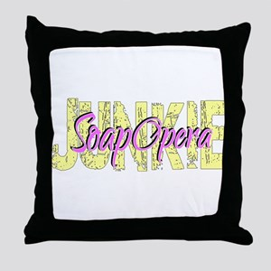 Soap Opera Junkie Throw Pillow