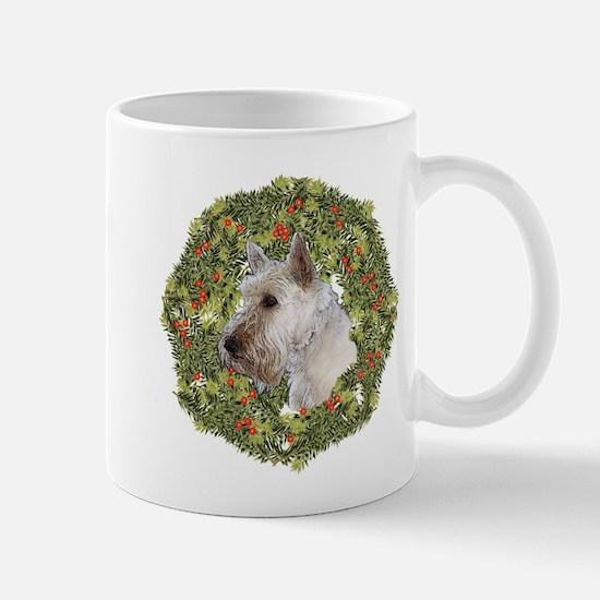 Scotty (Wheaten) Xmas Wreath Mug