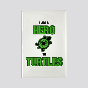 Turtle Hero Rectangle Magnet