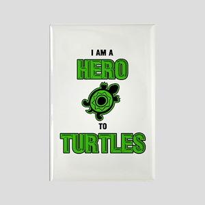 Turtle Hero Rectangle Magnet