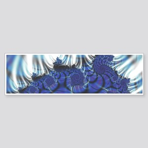 Midnight Flares Fractal Bumper Sticker