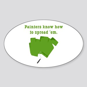 Funny Painters Oval Sticker