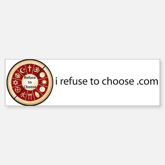 Refuse to Choose a Religion (Bumper Sticker)