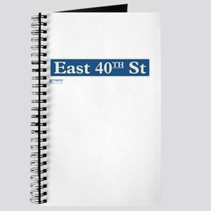 East 40th Street in NY Journal