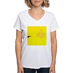 DEC. 5TH DAY#339. FLYING ? Women's V-Neck T-Shirt
