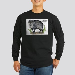 Collared Peccary Long Sleeve Dark T-Shirt