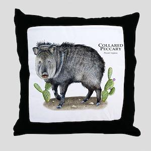 Collared Peccary Throw Pillow