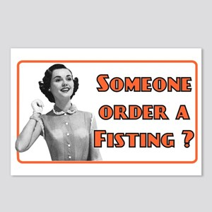 fisting retro Humor Postcards (Package of 8)