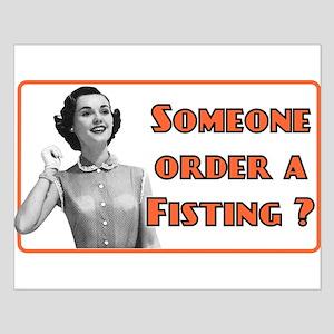 funny fisting retro Small Poster