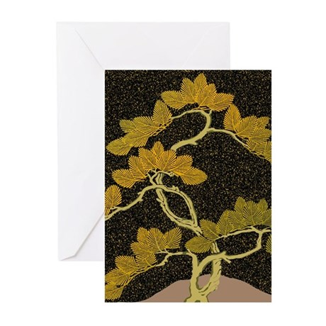 Japanese textile Pine(Matu) Greeting Cards (Pk of