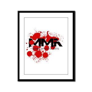 MMA Blood Splatter 01 Framed Panel Print
