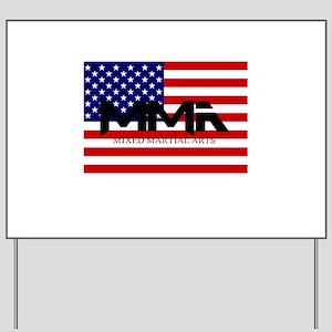 MMA USA Black Text Yard Sign