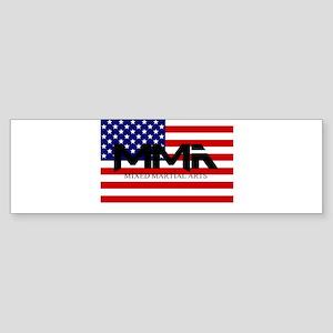 MMA USA Black Text Bumper Sticker