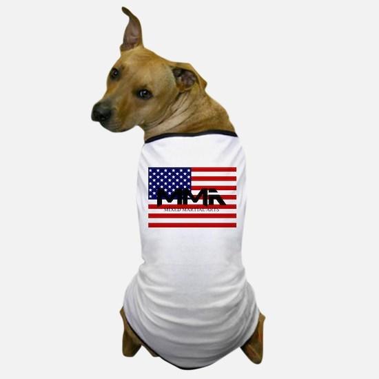 MMA USA Black Text Dog T-Shirt