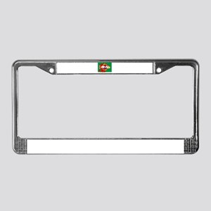 MMA Brazil Blood License Plate Frame