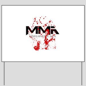 MMA Blood Splatter 05 Yard Sign