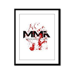 MMA Blood Splatter 05 Framed Panel Print
