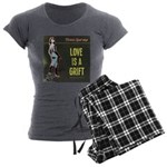 Love is a Grift Women's Charcoal Pajamas
