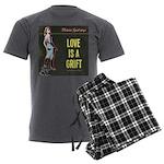 Love is a Grift Men's Charcoal Pajamas
