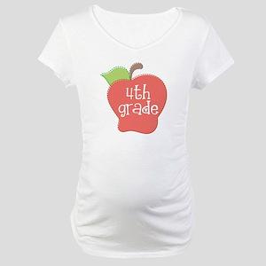 School Apple 4th Grade Maternity T-Shirt