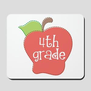 School Apple 4th Grade Mousepad