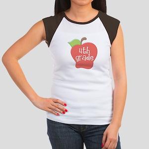 School Apple 4th Grade Women's Cap Sleeve T-Shirt