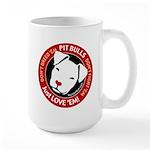 Pit Bulls: Just Love 'Em! Large Mug