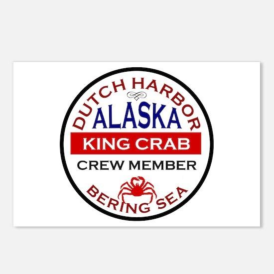 Dutch Harbor Bering Sea Crab Fishing Postcards (Pa