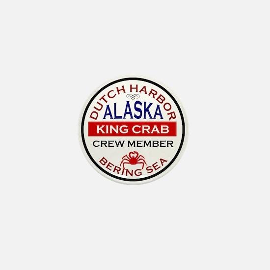 Dutch Harbor Bering Sea Crab Fishing Mini Button