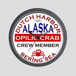 Dutch Harbor Bering Sea Crab Fishing Wall Clock
