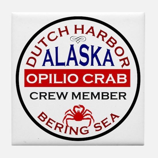 Dutch Harbor Bering Sea Crab Fishing Tile Coaster