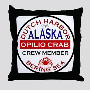Dutch Harbor Bering Sea Crab Fishing Throw Pillow