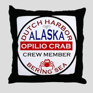 Dutch Harbor Bering Sea Crab Fishing Throw Pillow