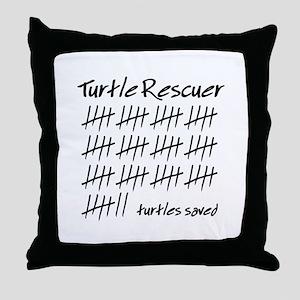 Turtle Rescuer Throw Pillow