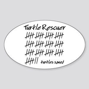 Turtle Rescuer Oval Sticker