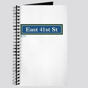East 41st Street in NY Journal