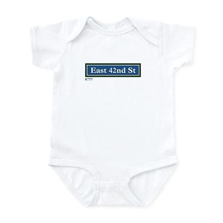 East 42nd Street in NY Infant Bodysuit