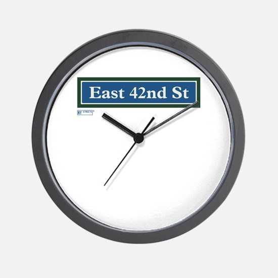 East 42nd Street in NY Wall Clock