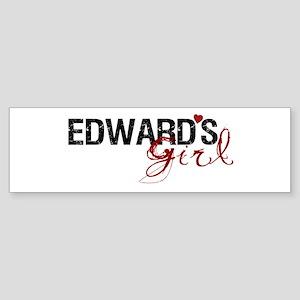 Edward's Girl Bumper Sticker
