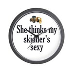 She Thinks My Skidders Sexy Wall Clock