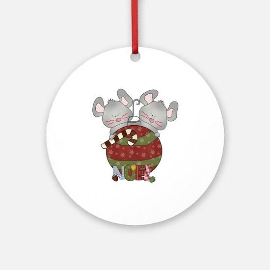 Christmas Mice Noel Ornament (Round)