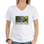 Living Loving Logging Women's V-Neck T-Shirt