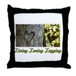 Living Loving Logging Throw Pillow