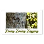 Living Loving Logging Rectangle Sticker