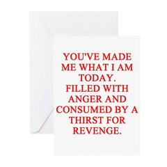 anger and revenge Greeting Cards (Pk of 10)