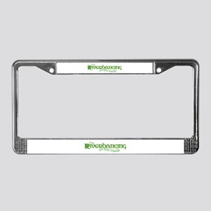 I'm Riverdancing on the Insid License Plate Frame